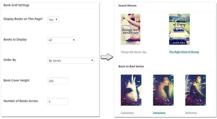Create custom grids of all your books with just a few clicks. They update automatically when you add a new book.