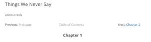 Screenshot of Mooberry Story Chapter Navigation