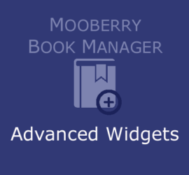 Mooberry Book Manager Advanced Widgets